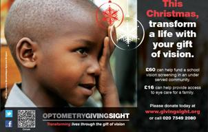 Optometry Giving Sight Advert